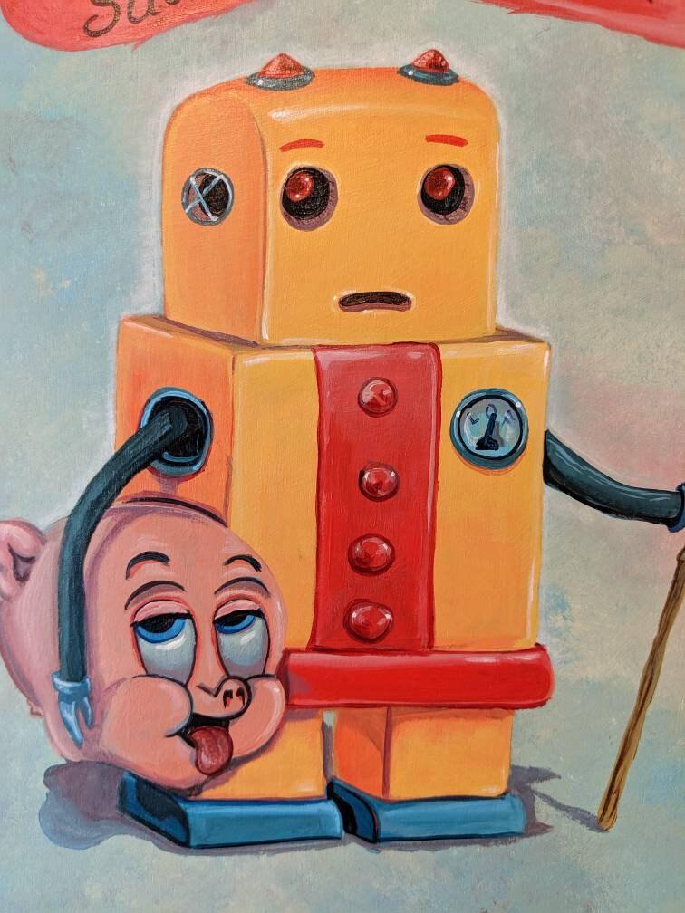 Yellow Robot - Original painting by Mr Hooper of Nashville ...