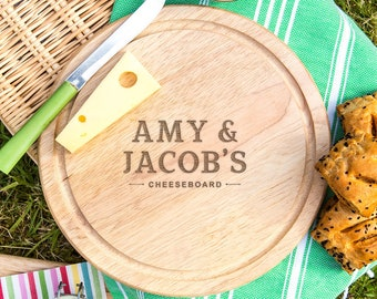 Personalized Wooden Bread Board - Personalised Engagement Gifts For Couples - Unique Engagement Gifts For The Home - Engraved Cutting Board