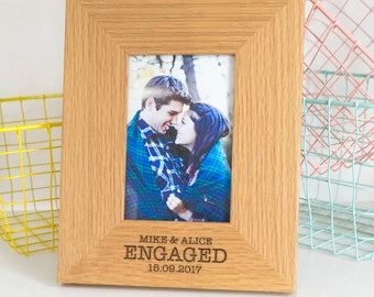 Engagement Gifts for Best Friend Personalized Photo Frame