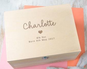 personalized birth certificate keepsake box