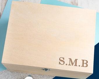 Personalised Engraved Monogram Jewellery Box