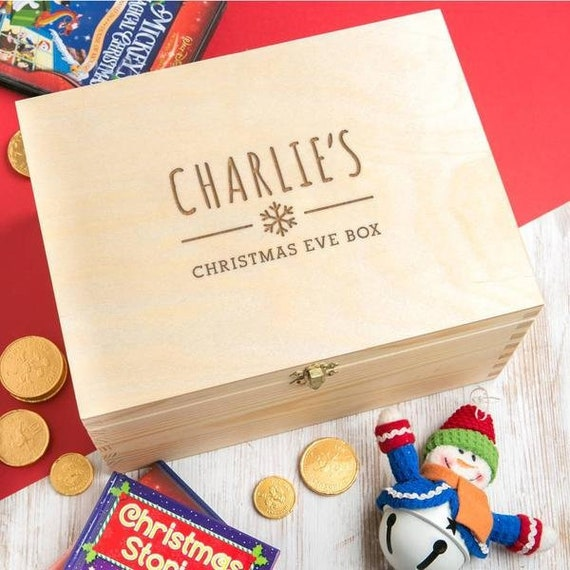 Personalised Christmas Eve Box For Children Wooden Christmas Etsy