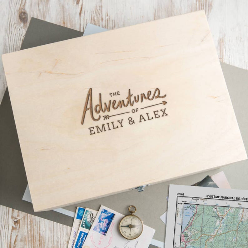 Personalized Wooden Keepsake Box  Personalised Memory Box  image 0