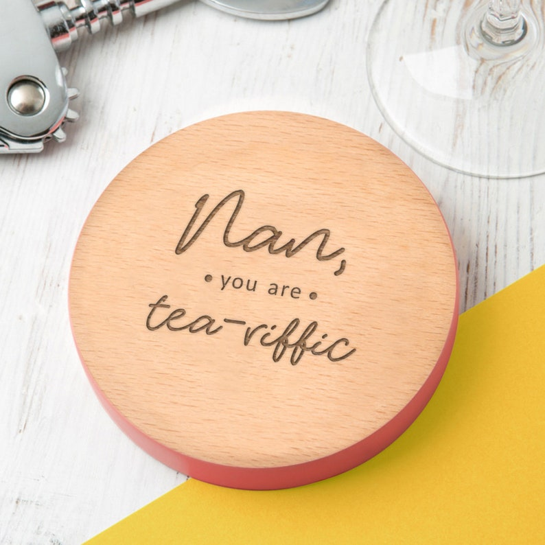 You Are Teariffic Engraved Wooden Coaster