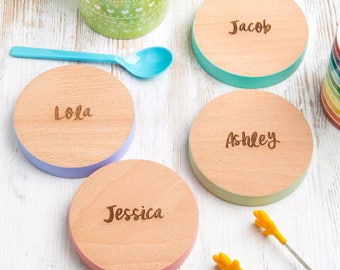 Wooden Coasters Set - 7 Colours to Choose From - Blank or Personalised Wood Coasters
