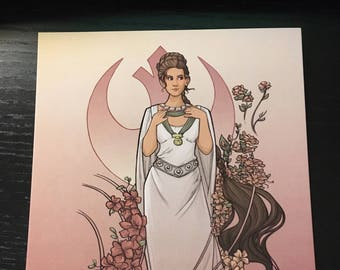 The Alderaan Rose Postcard (Item 09-391)