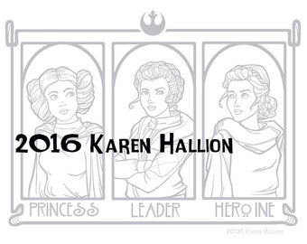 princess leader herione coloring page digital download