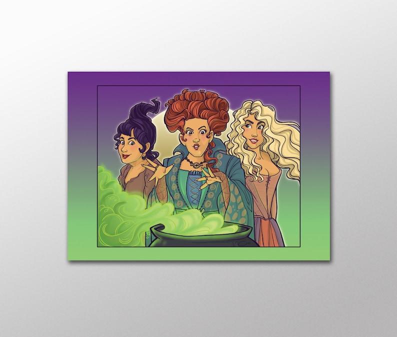 Item 09-560 Spooky Sisters Postcard