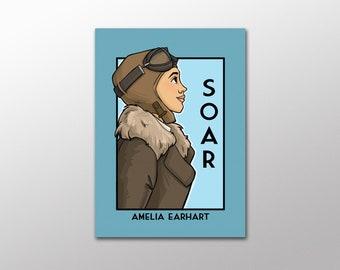 Soar -  Amelia Earhart - She Series Postcard
