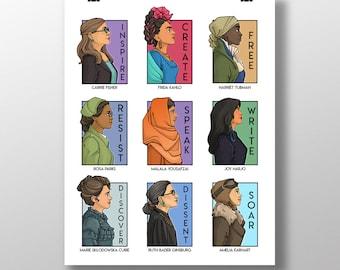 She Series Collage - Version Four - Medium Print