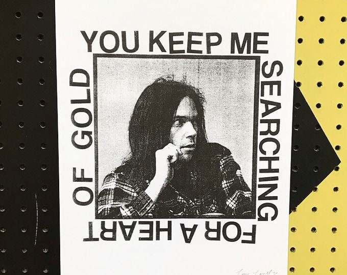 Neil Young Risograph Print