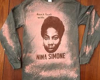 Nina Simone Bleached Longsleeve