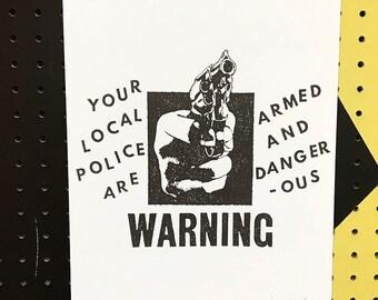 Local Police Risograph Print