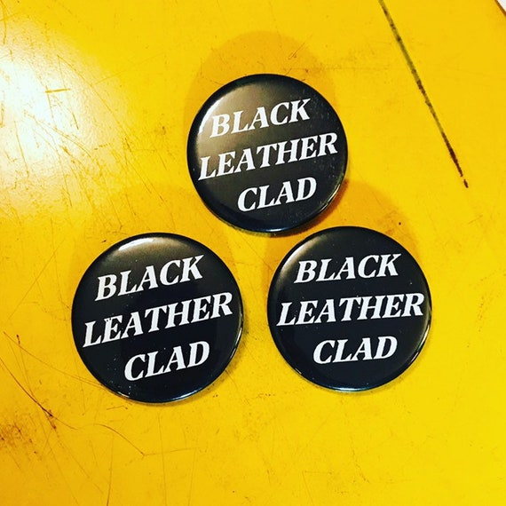 Black Leather Clad Pin