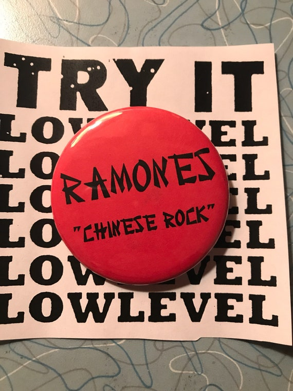 Ramones Chinese Rock Button