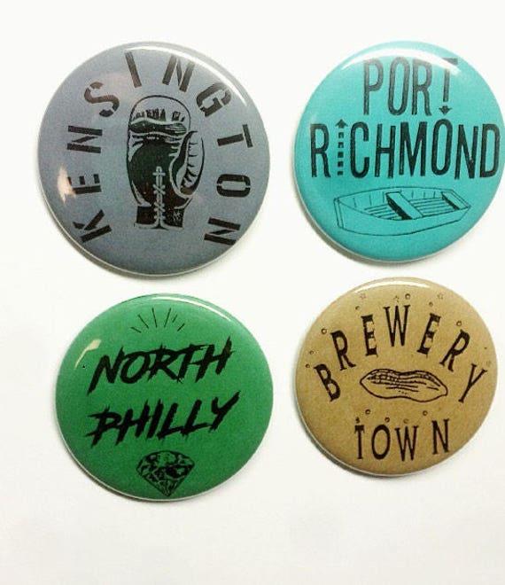 Philadelphia Neigborhood Buttons