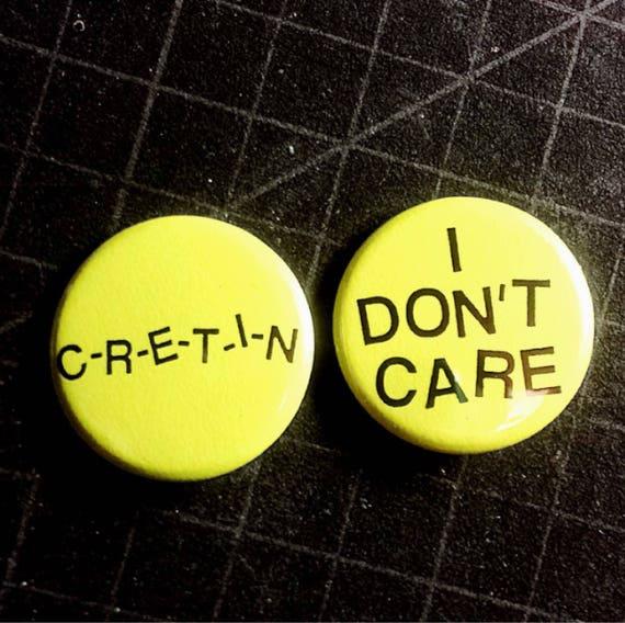 Atomic Yellow Ramones Pin Set