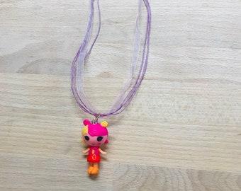 Chunky Necklace Bracelet Set One of a Kind, Lalaloopsy Halloween Necklace Bracelet Set Halloween Chunky Jewelry