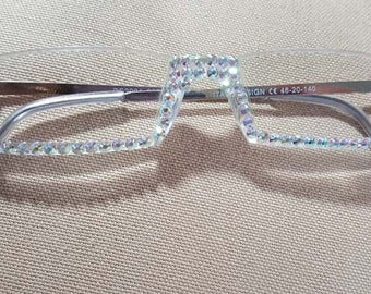 981c39605e3 NEW STYLE Sassy Reading Glasses Crystal Ab Crystals 1 Pair All Strengths  Available READERS