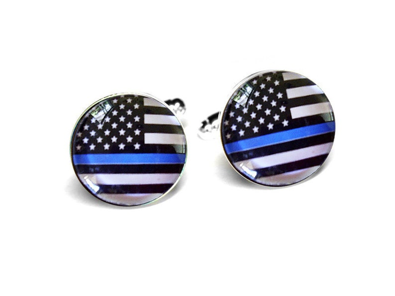 patriotic jewelry The Thin Blue Line jewelry selection ready to ship gift boxed law enforcement jewelry