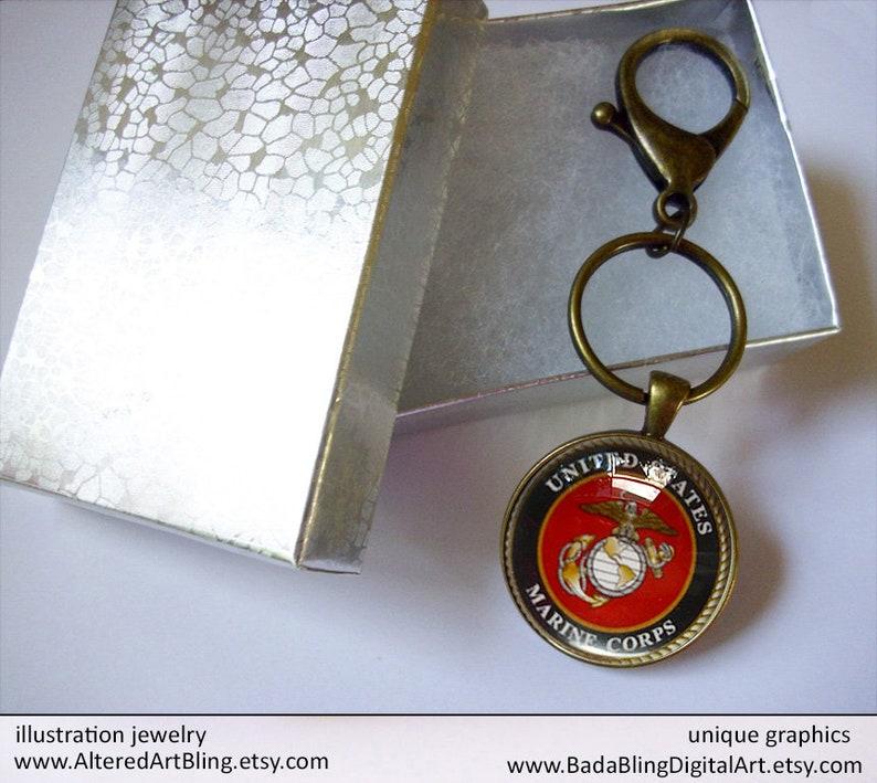 U.S MILITARY MARINE CORPS CUFFLINKS WITH JEWELRY BOX 1 SET USMC CUFF LINKS BOXED