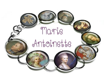 Marie Antoinette, photo bracelet, altered art  bracelet...ready to ship with gift box, Marie Antoinette jewelry, Paris, french, diva, queen