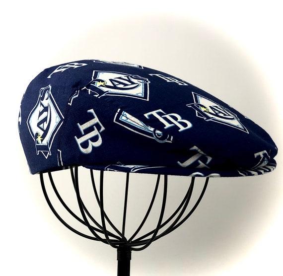 Tampa Bay Rays Logo Print Cotton Jeff Cap, Flat Ivy Cap, Driving Cap - Custom made