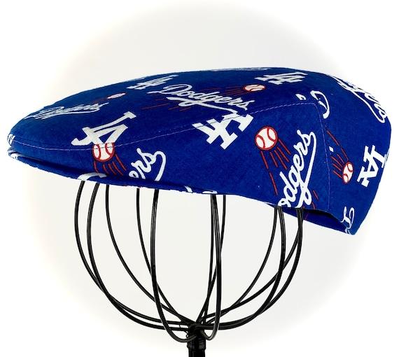 LA Dodgers Logo Print Cotton Jeff Cap, Flat Ivy Cap, Driving Cap - Custom made
