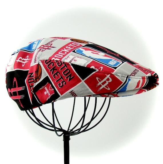 Houston Rockets Logo Print Cotton Jeff Cap, Flat Ivy Cap, Driving Cap - Custom made