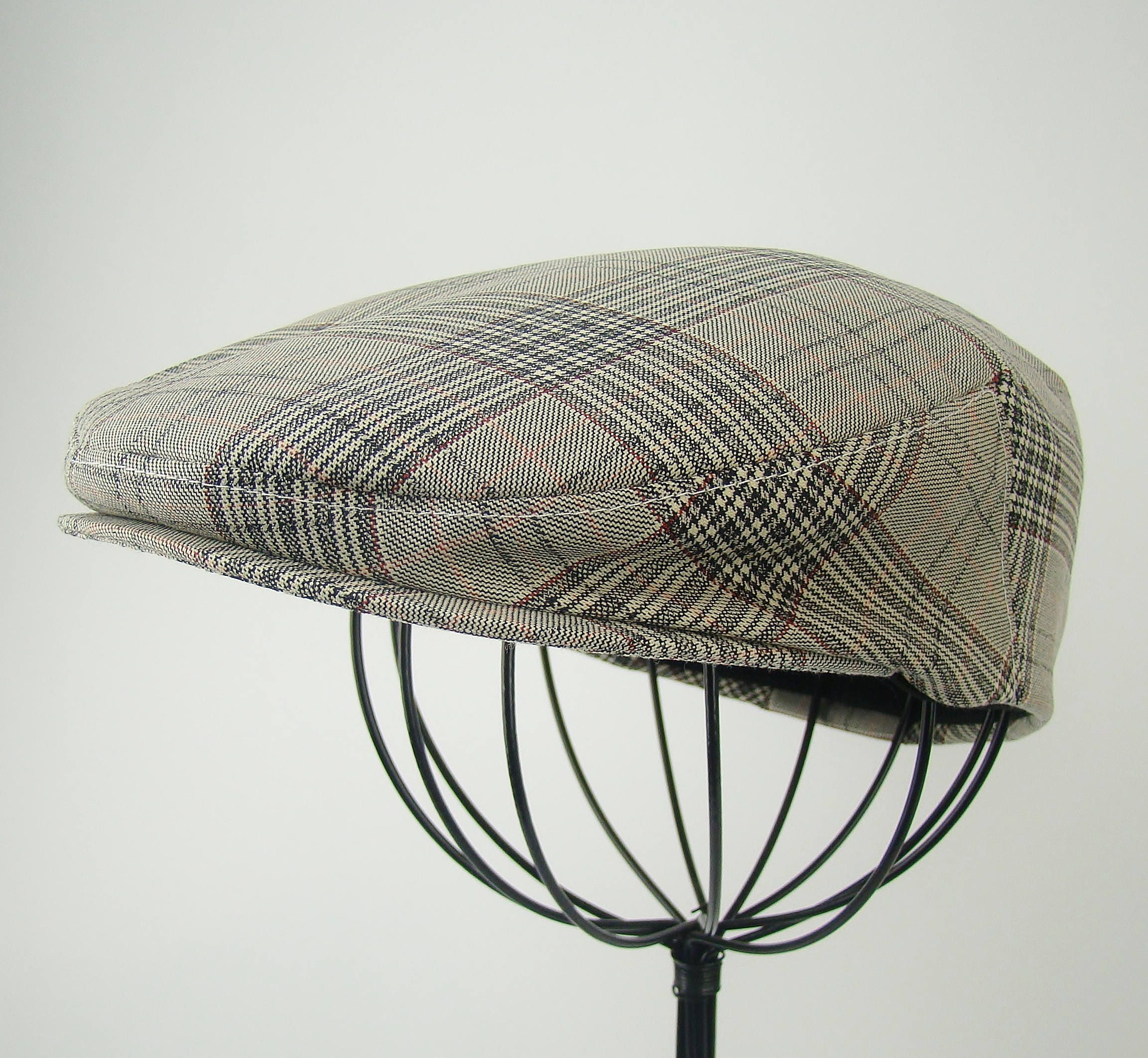 2416d62c0f4a9 Plaid Wool Flat Jeff Cap