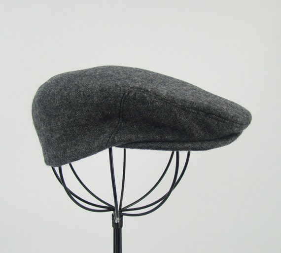 Grey Tweed Wool Children s Sixpence Hat Flat Jeff Cap  8990b84ba50