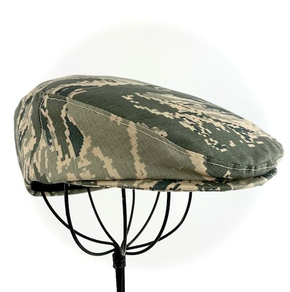 US Air Force ABU Tiger Stripe  Nylon Cotton Riptop Camouflage Jeff Cap Cotton  Flat Jeff Cap, Ivy Cap, Driving Cap