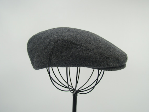 Grey Tweed Wool Men s Sixpence Hat Flat Jeff Cap Ivy  f077547b85b