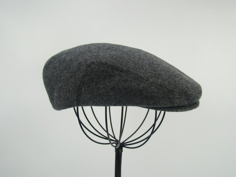 Grey Tweed Wool Men s Sixpence Hat Flat Jeff Cap Ivy  a514b7cdf072