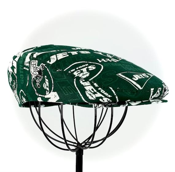 NY New York Jets Logo Print Cotton Jeff Cap, Flat Ivy Cap, Driving Cap - Custom made