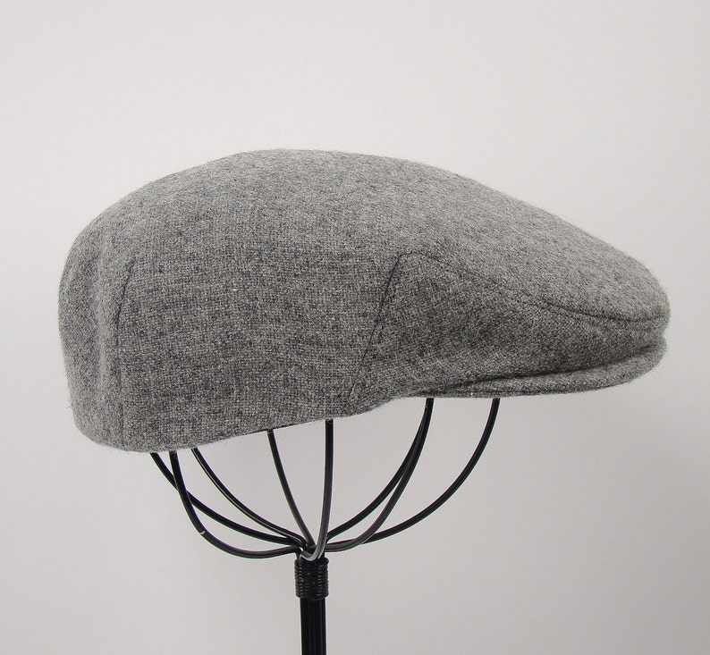 Light Grey Heather Wool Children s Sixpence Hat  9dfe91a70654