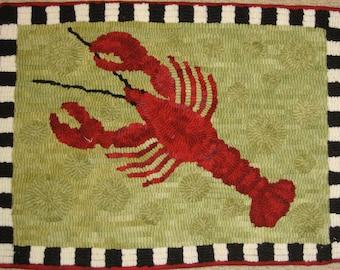 Lobster Rug Hooking PATTERN on Premium Linen