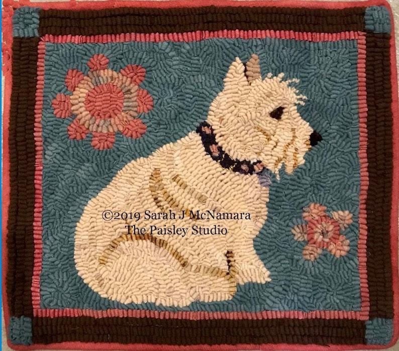Scottish Terrier Rug Hooking PATTERN on Hand-Drawn on Premium image 0