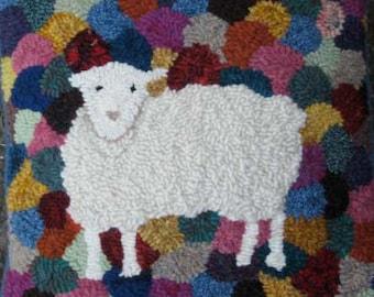 Sheep Rug Hooking PATTERN on Premium Linen: Got Wool?