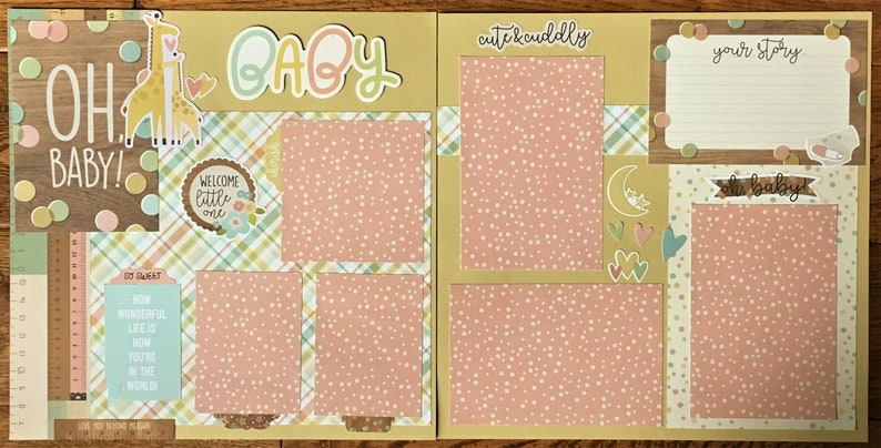 "Scrapbooking Card Making Craft Paper 50 Sheets Designer Paper /""Little One/"" Baby"