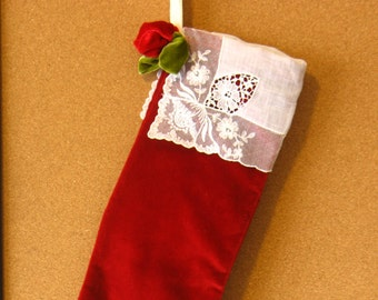 Custom Made.....Bedford Christmas Stocking by fancibags on Etsy