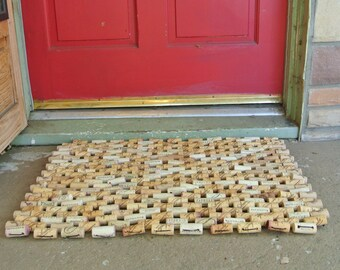 "Wine Cork Doormat 20""x30"""
