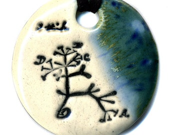 Ode to Charles Darwin and The Original Tree of Life in Blue-Green and White