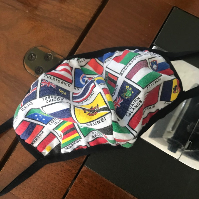 International Flags Face Mask Upcycled and One of a Kind Artsy image 0
