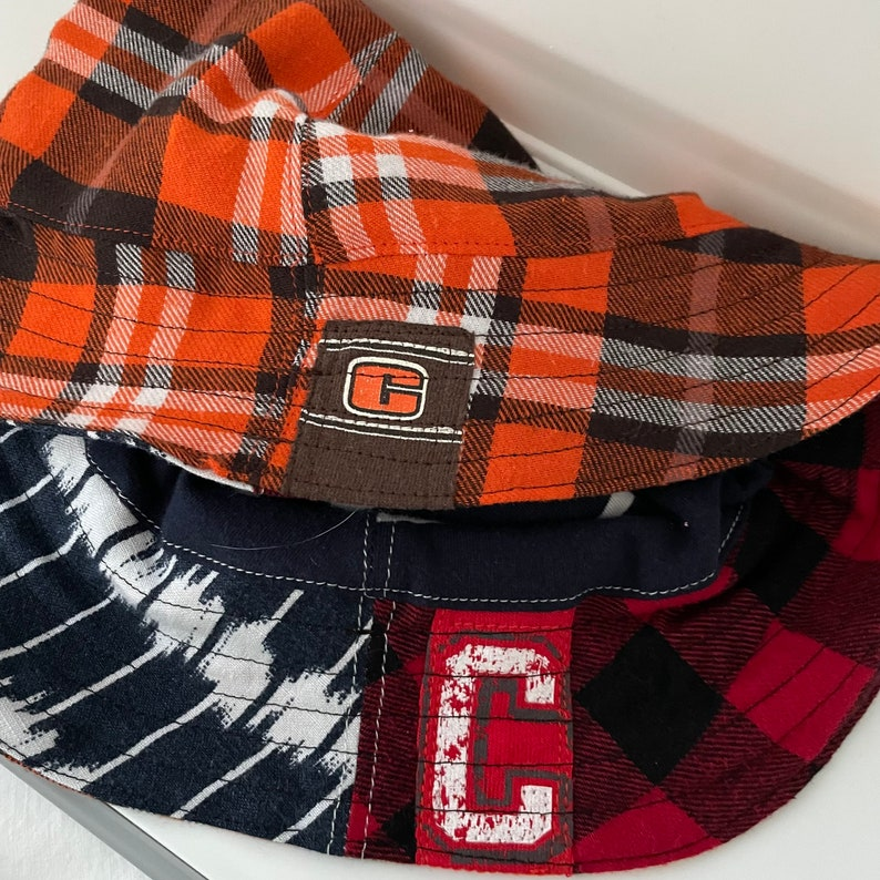 Reversible Bucket Hat Upcycled One of a Kind cleveland browns image 0
