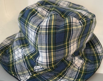 Reversible Bucket Hat Upcycled One of a Kind