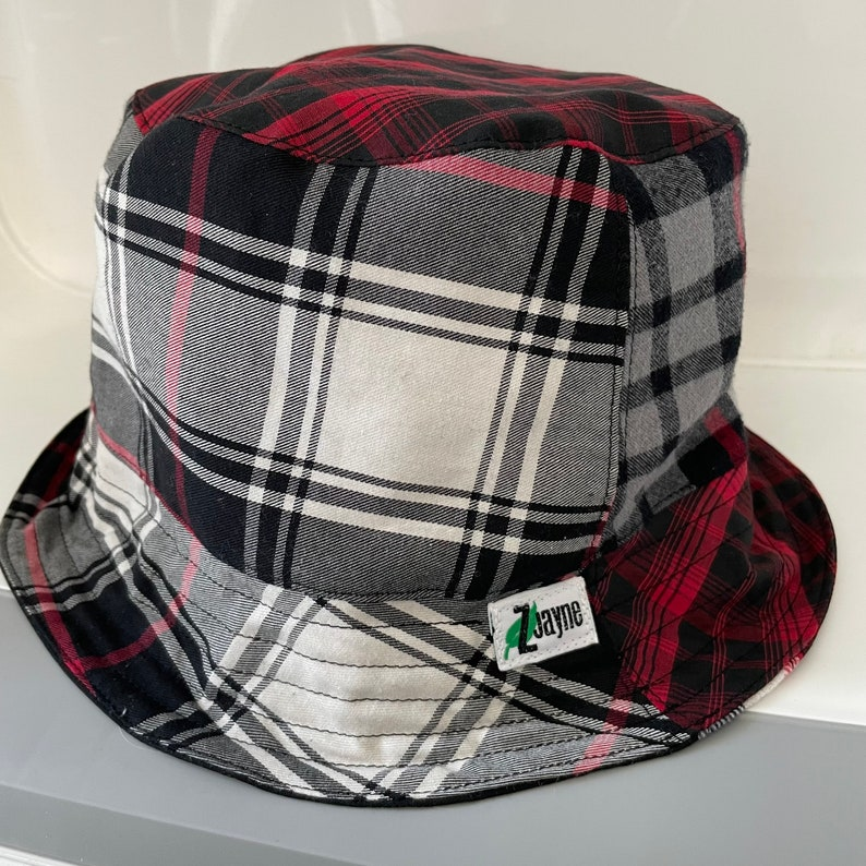 Reversible Bucket Hat Upcycled One of a Kind image 1