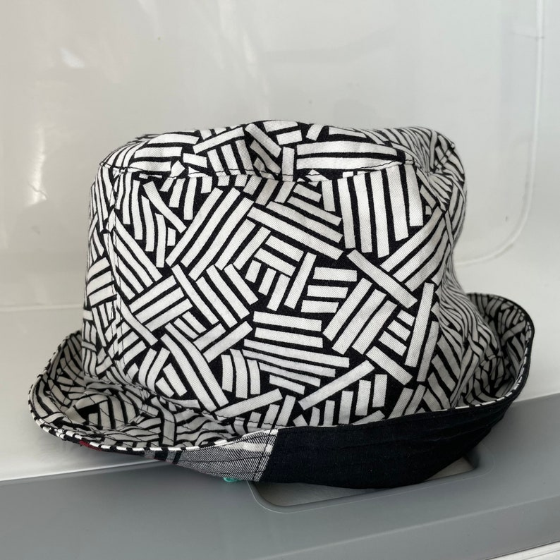 Reversible Bucket Hat Upcycled One of a Kind image 0
