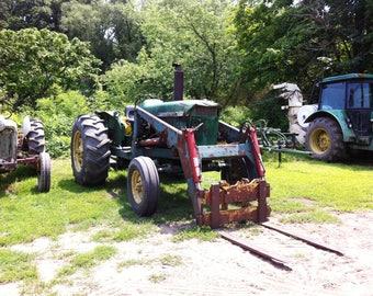 Farm hay bale tractor stock photo image free use