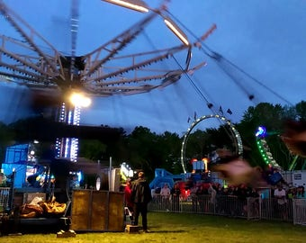 Amusement park carnival rides stock photo image free use